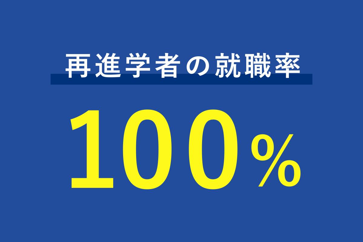 再進学者の就職率100%