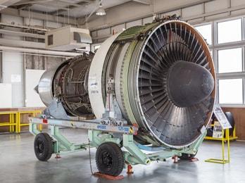 ボーイング747のターボファンエンジン